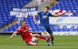 James Wilson of Ipswich Town passes the ball under pressure from Colby Bishop of Accrington Stanley - Mandatory by-line: Arron Gent/JMP - 16/10/2020 - FOOTBALL - Portman Road - Ipswich, England - Ipswich Town v Accrington Stanley - Sky Bet League One