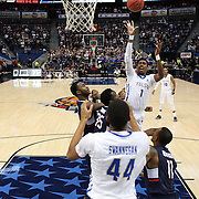 Rashad Smith, Tulsa, shoots during the UConn Huskies Vs Tulsa Semi Final game at the American Athletic Conference Men's College Basketball Championships 2015 at the XL Center, Hartford, Connecticut, USA. 14th March 2015. Photo Tim Clayton