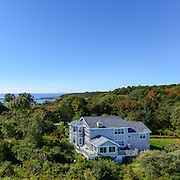 A lovely property with distant ocean views on Gerrish Island in Kittery Maine. Taken for the cover of Coastal Living's Real Estate magazine (with space at the top left purposefully for cover text).