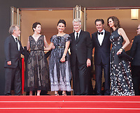 Sabrina Sutherland, Emily Stofle, David Lynch, Kyle MacLachlan and Desiree Gruber at Twin Peaks gala screening at the 70th Cannes Film Festival Thursday 25th May 2017, Cannes, France. Photo credit: Doreen Kennedy