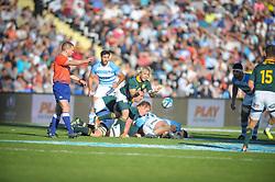 August 25, 2018. Malvinas Argentinas Stadium, Mendoza, Argentina.<br /> FAF DE KLERK begins a new attack for the Springboks.