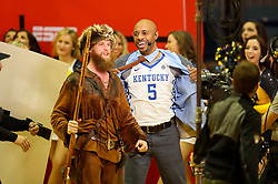 Jan 27, 2018; Morgantown, WV, USA; ESPN's Jay Williams picks Kentucky on ESPN College Gameday set before the Big 12/SEC challenge game between West Virginia and Kentucky at WVU Coliseum. Mandatory Credit: Ben Queen-USA TODAY Sports