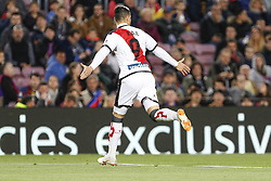 March 9, 2019 - Barcelona, Catalonia, Spain - Rayo Vallecano forward Raul de Tomas (9) celebrates scoring the goal during the match FC Barcelona v Rayo Vallecano, for the round 27 of La Liga played at Camp Nou  on 9th March 2019 in Barcelona, Spain. (Credit Image: © Mikel Trigueros/NurPhoto via ZUMA Press)