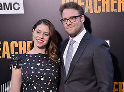 "(L-R) Lauren Miller and Seth Rogen arrives at AMC's ""Preacher"" Season 2 Premiere Screening held at the Theater at the Ace Hotel in Los Angeles, CA on Tuesday, June 20, 2017.  (Photo By Sthanlee B. Mirador) *** Please Use Credit from Credit Field ***"