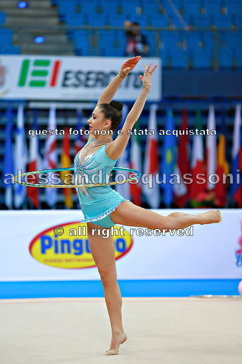 Castiglioni Lucia during qualifying at hoop in Pesaro World Cup 10 April 2015.<br /> Lucia is a San Marino athlete born on May 28,1998 in San Marino.