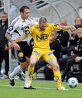 Fotball Tippeligaen Rosenborg (RBK) - Bodø/Glimt 15.08.09,<br /> Rade Prica og Mounir Hamoud,<br /> Foto: Carl-Erik Eriksson, Digitalsport,