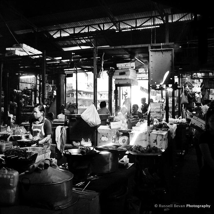 Inside the Russian Market Food Hall in Phnom Penh, Cambodia