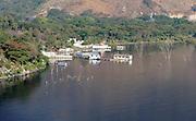Houses and fields flooded by the rising level of Lago Atitlan. San Juan la Laguna. Departamente de Sololá, Republic of Guatemala. 06Mar14