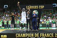 Ousmane Camara - MVP - 20.06.2015 - Limoges / Strasbourg - Finale Pro A<br /> Photo : Manuel Blondeau / Icon Sport