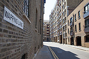 Wapping Lane in the East London neighborhood of Wapping, CREDIT: Vanessa Berberian for The Wall Street Journal. WAPPING
