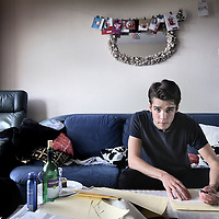 Nederland, Amsterdam , 20 september 2013.<br /> Bram van Montfoort, student journalistiek  heeft een boek geschreven nadat hij een jaar offline heeft geleefd.<br /> Foto:Jean-Pierre Jans
