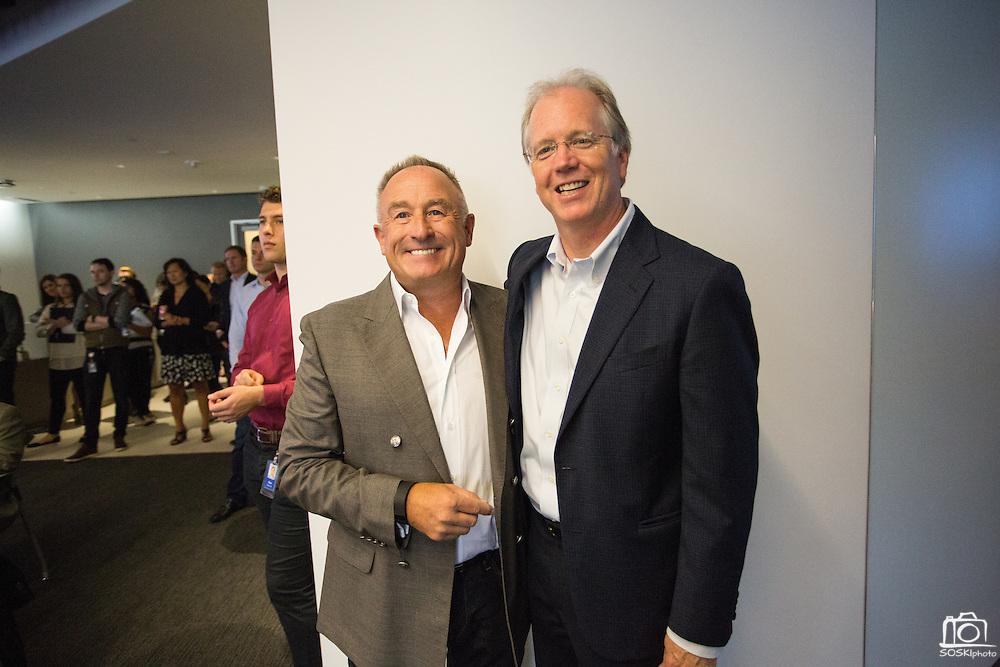 DocuSign EBC grand opening event at DocuSign in San Francisco, California, on September 14, 2015. (Stan Olszewski/SOSKIphoto)