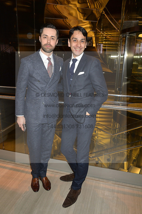 Left to right, DAMIAN OTWINOWSKI Store Director of The Watches of Switzerland store and FRANCOIS LE TROQUER at the Veryexclusive.co.uk Launch Party held at Watches of Switzerland, 155 Regents Street, London on 20th February 2015.