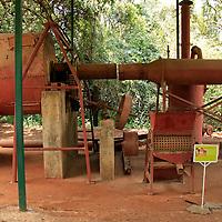 Africa, Kenya, Nairobi.  Karen Blixen historical coffee plantation roaster.