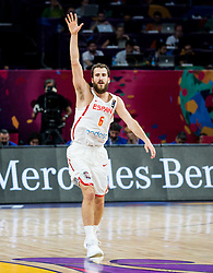 Sergio Rodriguez of Spain reacts during basketball match between National Teams  Spain and Russia at Day 18 in 3rd place match of the FIBA EuroBasket 2017 at Sinan Erdem Dome in Istanbul, Turkey on September 17, 2017. Photo by Vid Ponikvar / Sportida
