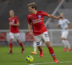 Anders Hagelskjær (Silkeborg IF) under kampen i 1. Division mellem FC Helsingør og Silkeborg IF den 11. september 2020 på Helsingør Stadion (Foto: Claus Birch).