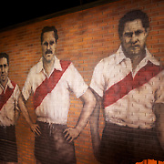 An historical mural on display in the museum at River Plates' El Monumental stadium, Buenos Aires, Argentina, 25th June 2010. Photo Tim Clayton...