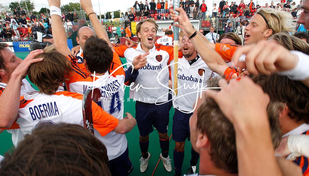 Vreugde bij Oranje na het behalen van de Europese titel.