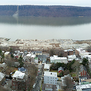 Aerial Panorama of Hastings-on-Hudson NY, waterfront