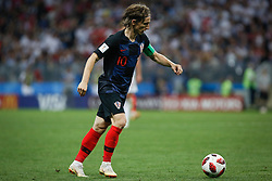 July 11, 2018 - Moscow, Vazio, Russia - Luka MODRIC of Croatia during match between England and Croatia valid for the semi final of the 2018 World Cup, held at the Lujniki Stadium in Moscow, Russia. Croatia wins 2-1. (Credit Image: © Thiago Bernardes/Pacific Press via ZUMA Wire)