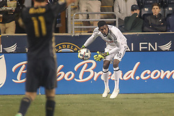 April 14, 2017 - Chester, PA, United States of America - Philadelphia Union Keeper ANDRE BLAKE (1) clears the ball from the box in the second half of a Major League Soccer match between the Philadelphia Union and New York City FC Friday, Apr. 17, 2016 at Talen Energy Stadium in Chester, PA. (Credit Image: © Saquan Stimpson via ZUMA Wire)