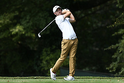 September 24, 2017 - Atlanta, Georgia, United States - Russell Henley tees off the second hole during the final round of the TOUR Championship at the East Lake Club. (Credit Image: © Debby Wong via ZUMA Wire)