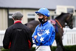 Jockey George Downing - Mandatory by-line: Robbie Stephenson/JMP - 19/08/2020 - HORSE RACING - Bath Racecourse - Bath, England - Bath Races