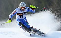 Patrick Thaler at first run of 9th men's slalom race of Audi FIS Ski World Cup, Pokal Vitranc,  in Podkoren, Kranjska Gora, Slovenia, on March 1, 2009. (Photo by Vid Ponikvar / Sportida)