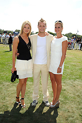 Left to right, ISABELLA ANSTRUTHER-GOUGH-CALTHORPE, SAM BRANSON and HOLLY BRANSON at the Cartier International Polo at Guards Polo Club, Windsor Great Park on 27th July 2008.<br /> <br /> NON EXCLUSIVE - WORLD RIGHTS