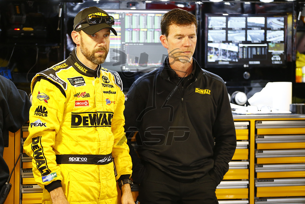 October 28, 2017 - Martinsville, Virginia, USA: Matt Kenseth (20) hangs out in the garage during practice for the First Data 500 at Martinsville Speedway in Martinsville, Virginia.