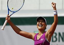 May 24, 2018 - Paris, France - Victoire et qualification de Harmony Tan (FRA) sur le court 7. (Credit Image: © Panoramic via ZUMA Press)