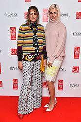 Yasmin and Amber Le Bon attending the Red Women of the Year Awards, at the Royal Festival Hall in London. Picture date: Monday October 17th, 2016. Photo credit should read: Matt Crossick/ EMPICS Entertainment.