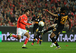 February 22, 2019 - Na - Lisbon, 21/02/2019 - SL Benfica received Galatasaray SK tonight at Est√°dio da Luz in the second qualifying round of the Europa League 2018/2019. Jo√£o Félix  (Credit Image: © Atlantico Press via ZUMA Wire)