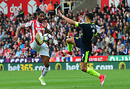Premier league match, Stoke City v Arsenal at the Bet365 Stadium in Stoke on Trent, Staffs on Saturday 13th May 2017.<br /> pic by Bradley Collyer, Andrew Orchard sports photography.