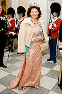 15.04.2015. Copenhagen, Denmark.King Carl XVI Gustaf and Queen Silvia of Swedenattended a Gala Dinner at Christiansborg Palace on the eve of The 75th Birthday of Queen Margrethe of Denmark.Photo:© Ricardo Ramirez