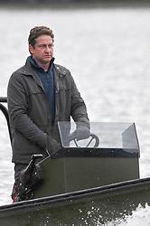 EXCLUSIVE: Morgan Freeman and Gerard Butler seen filming Angel has Fallen in the UK. 06 Mar 2018 Pictured: Morgan Freeman and Gerard Butler. Photo credit: W8Media / MEGA TheMegaAgency.com +1 888 505 6342
