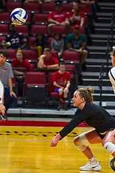 BLOOMINGTON, IL - September 15: Kendal Meier during a college Women's volleyball match between the ISU Redbirds and the Marquette Golden Eagles on September 15 2019 at Illinois State University in Normal, IL. (Photo by Alan Look)