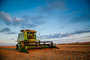 John Deer combine in Iowa.<br />