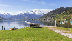 THEMENBILD - der Jachthafen mit Steg am Nordufer des Zeller See, aufgenommen am 19. Mai 2019, Zell am See, Österreich // the marina with jetty on the northern shore of the lake Zeller See on 2019/05/19, Zell am See, Austria. EXPA Pictures © 2019, PhotoCredit: EXPA/ Stefanie Oberhauser