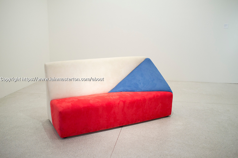 Sculpture In a Nicely Czech Way by Martina Chloupa at Museum of Modern Art or Veletrzni Palace Prague in Czech Republic
