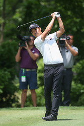 May 25, 2019 - Fort Worth, TX, U.S. - FORT WORTH, TX - MAY 25: Kevin Na hits from the 6th tee during the third round of the Charles Schwab Challenge on May 25, 2019 at Colonial Country Club in Fort Worth, TX. (Photo by George Walker/Icon Sportswire) (Credit Image: © George Walker/Icon SMI via ZUMA Press)