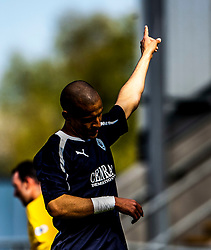 Falkirk's Farid El Alagui substituted near the end of the game..Falkirk's Football Club's last game of season 2011-2012..Falkirk 3 v 2 Ayr United, 5/5/2012..©Michael Schofield..