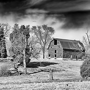A gradually crumbling barn outside of the town of Orange in the Piedmont area of Virginia.