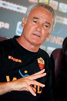 Claudio Ranieri during his first press conference as As Roma coach.<br /> Claudio Ranieri durante la Conferenza Stampa di presentazione come nuovo allenatore della Roma<br /> Roma 2/9/2009 Trigoria<br /> Campionato Italiano Serie A 2009/2010<br /> Foto Andrea Staccioli Insidefoto