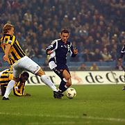 NLD/Arnhem/20051211 - Voetbal, Vitesse - Ajax, Ruud Knol en Wesley Sneijder