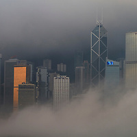 Victoria Harbour in the fog