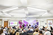 Sedar LeBarre of Booz Allen moderates the panel Frenemies: How Peculiar Partnerships are Redefining Competition during the 2016 Aspen Ideas Festival in Aspen, CO. ©Brett Wilhelm