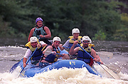 Copperhill, Tennessee, USA;  A group of rafters attempt to navigate the whitewater of the Ocoee River.