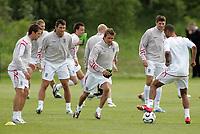 Photo: Paul Thomas.<br /> England Training Session. 01/06/2006.<br /> <br /> Michael Owen, Frank Lampard, David Beckham, Steven Gerrard and Ashley Cole.
