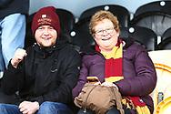 Bradford City fans during the EFL Sky Bet League 1 match between Burton Albion and Bradford City at the Pirelli Stadium, Burton upon Trent, England on 26 January 2019.